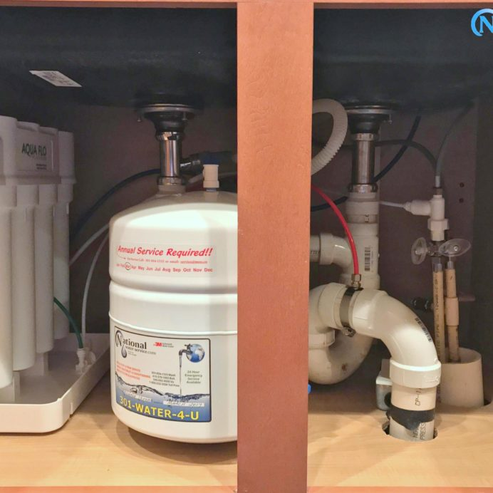 An under the sink Reverse Osmosis System for 99.9% contaminant free cooking & drinking water