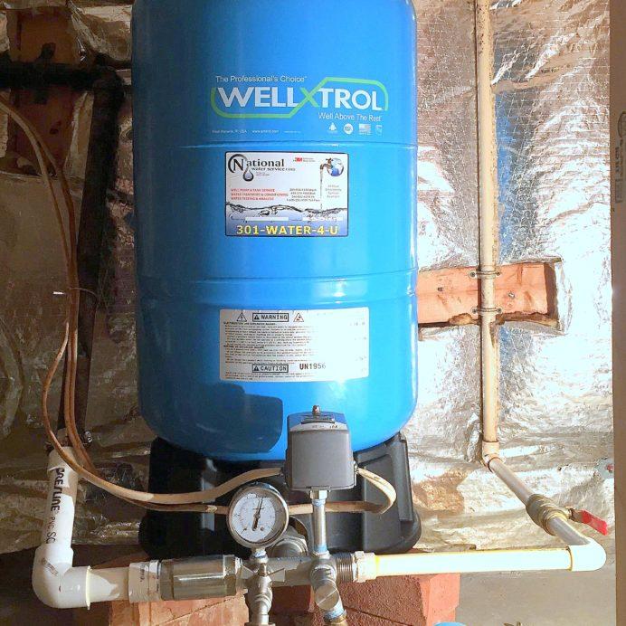 raised pressure tank