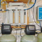 reverse osmosis, sediment filter, water treatment tanks and an ozone system