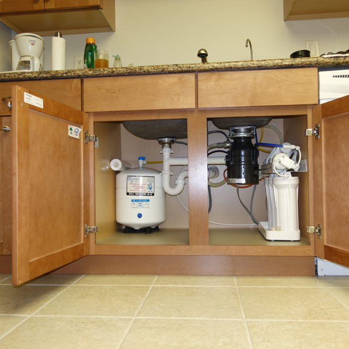 An under the sink Reverse Osmosis System for up too 99.9% contaminant free cooking & drinking water