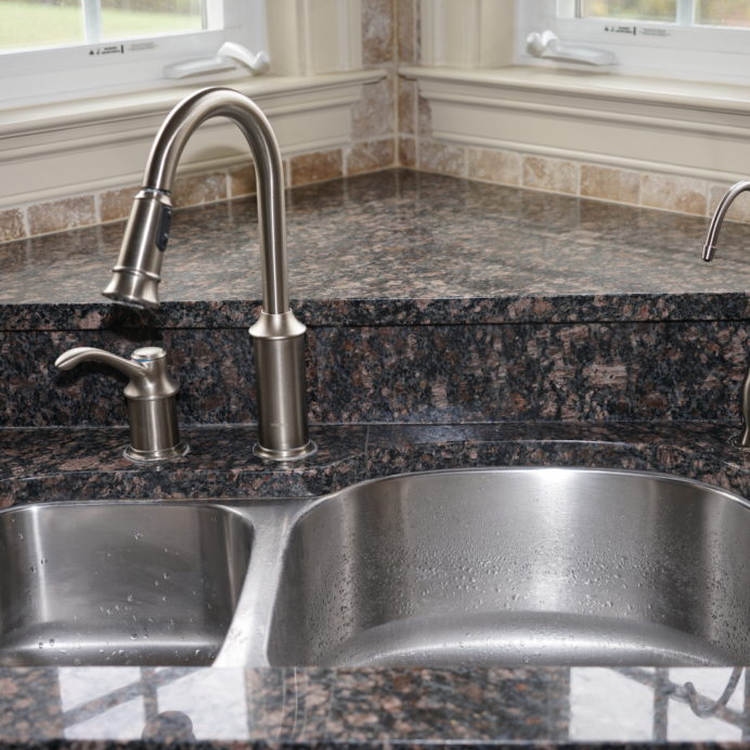 Matching Reverse Osmosis Faucet and Tap Water Faucet.