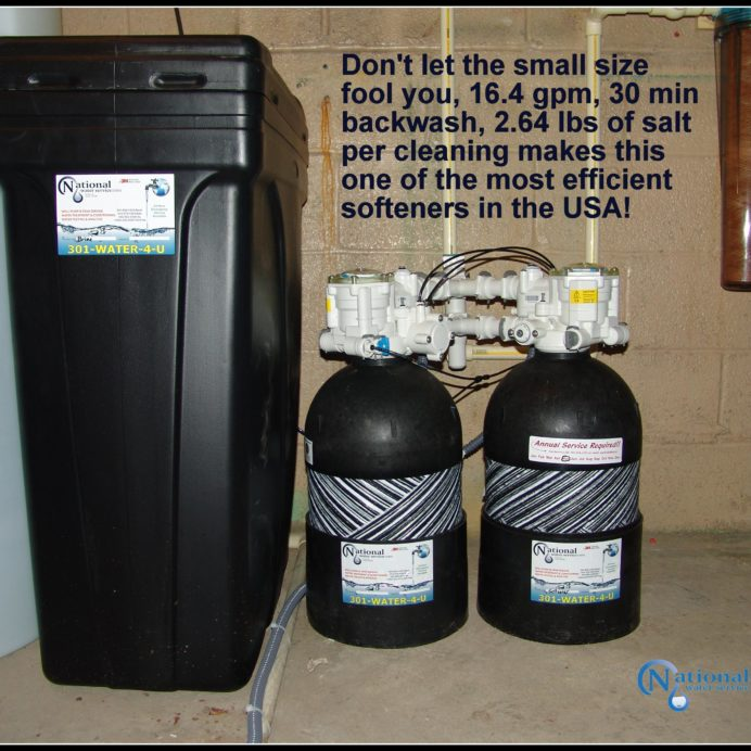 High Efficiency, Non-Electric Water Softener with Brine Tank
