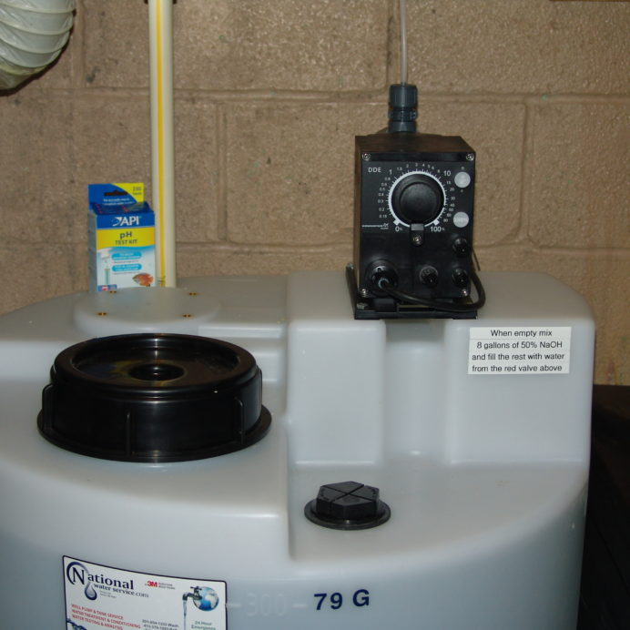 Grundfos Chemical Feeder dosing pump for pH & corrosion control