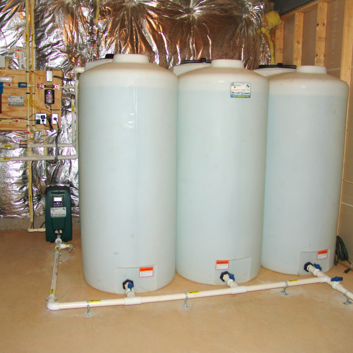 Water Storage Tanks with a water pressure booster pump