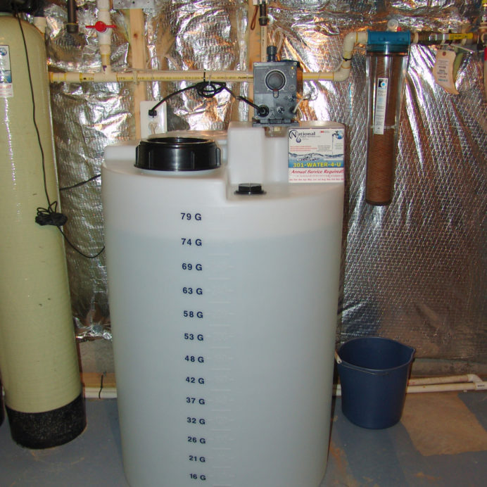 Chemical Feeder for pH & corrosion control and a Whole House Sediment Filter
