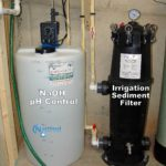 A Solution Feeder and a Solution Tank for pH and corrosion control and an Irrigation Sediment Filter