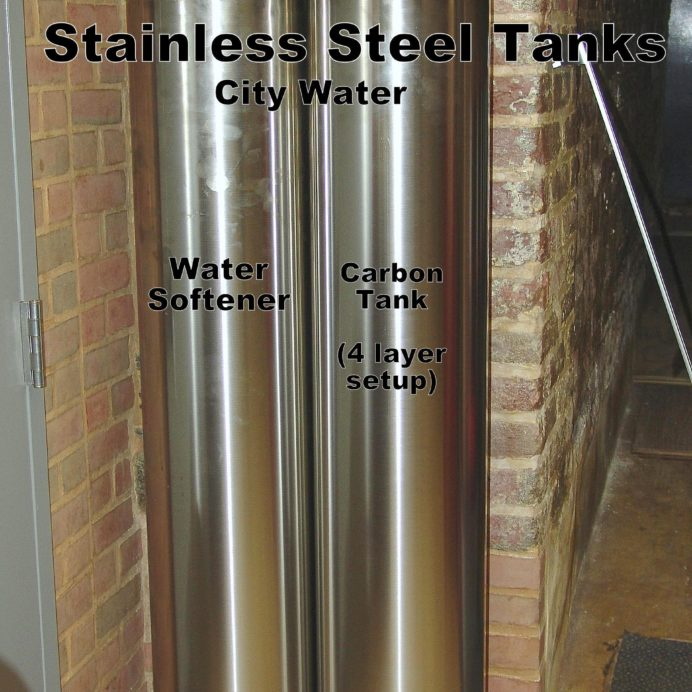 Stainless Steel Tanks. A Water Softener & Carbon Tank
