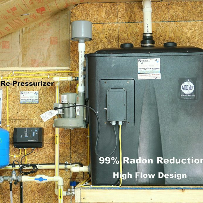 Cancer causing Radon in Water Remediation System and a Constant Well Water Pressure System
