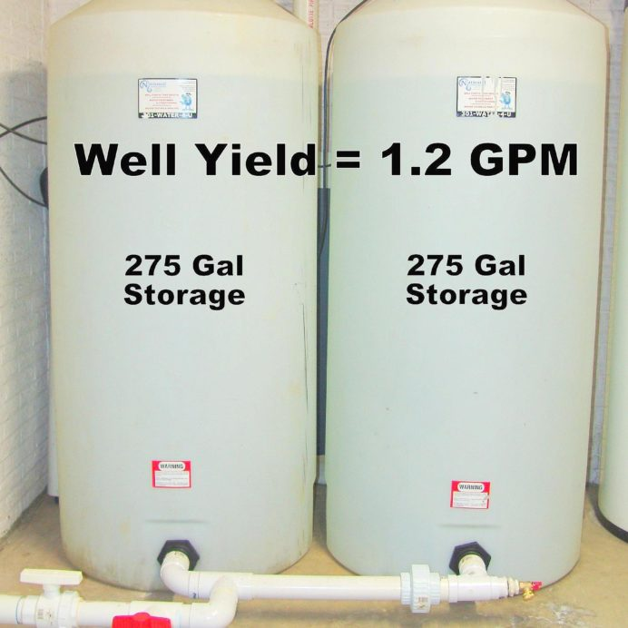 Two 275 gallon Water Storage Tanks for low yielding wells