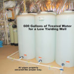 600 Gallon Storage Tanks for a low yielding well