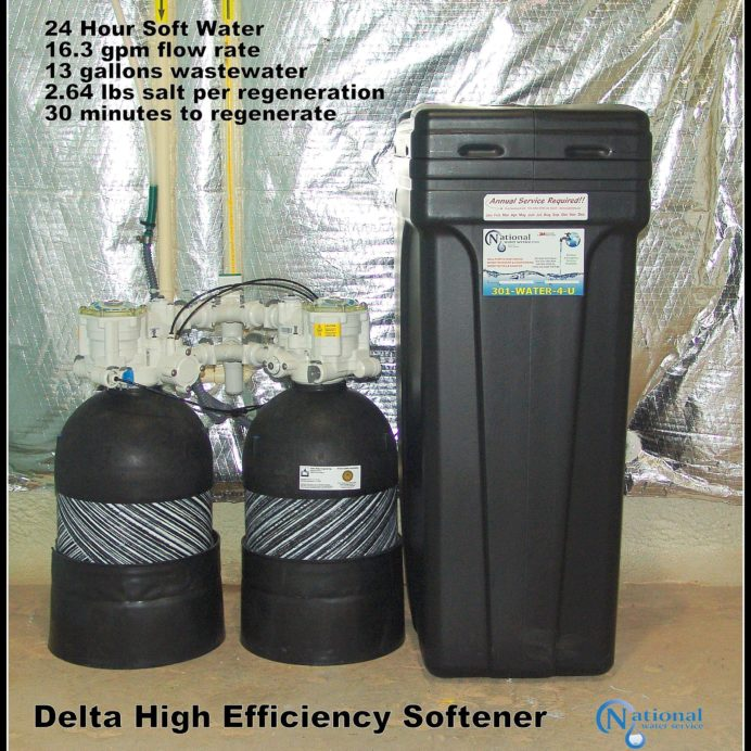 High Efficiency non-electric Water Softener. Perfect for City Water.