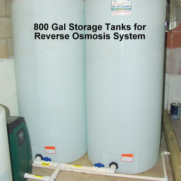 800 Gallon Water Storage Tanks with a water pressure booster pump