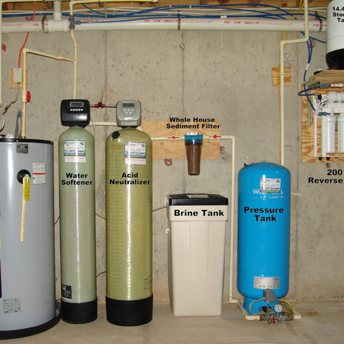 Whole House Water Treatment, Hot Water Heater, Water Softener, Acid Neutralizer, Brine Tank, Sediment filter, Well Water Pressure Tank, Reverse Osmosis