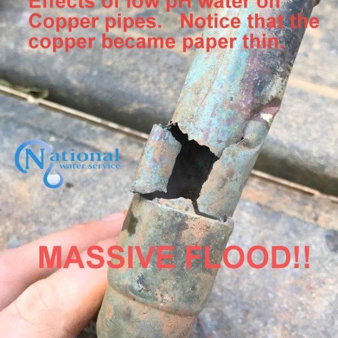 Break in Copper Water Line