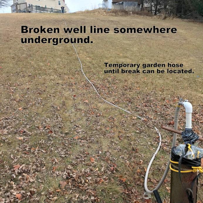 Broken Well Water Line