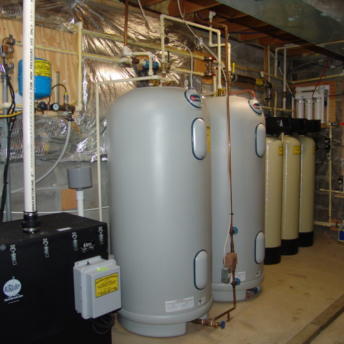 Radon Reduction System for the remediation of cancer causing radon in water, two Water Heaters, a Iron Turbidity Filter, Ultraviolet Light for the disinfection of bacteria and virus' found in water, a Constant Water Pressure System and a Reverse Osmosis System for 99.9% contamination free cooking and drinking water