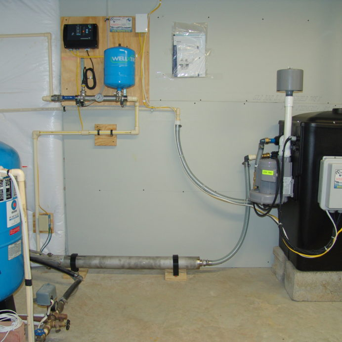 A Radon Reduction System for the remediation of cancer causing radon with an EZ Boost System, a Pressure Tank, and a Constant Pressure System