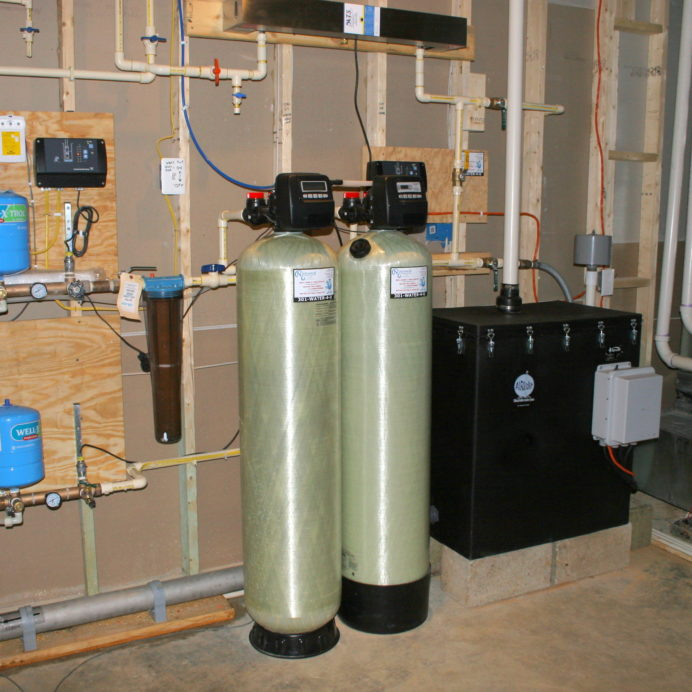An AiRaider for the remediation of cancer causing radon in water, an Ultraviolet Water Remediation System to remove 99.9% of all bacteria from water, a Water Softener for hard water, an Acid Neutralizer for pH & corrosion control, a Whole House Sediment Filter and a Constant Water Pressure Well Pump Control System with an extra Pressure Tank