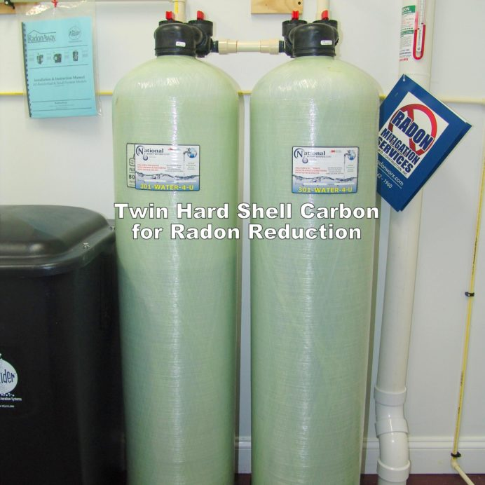 Twin Hard Shell Carbon Tanks for the remediation of cancer causing Radon in Water