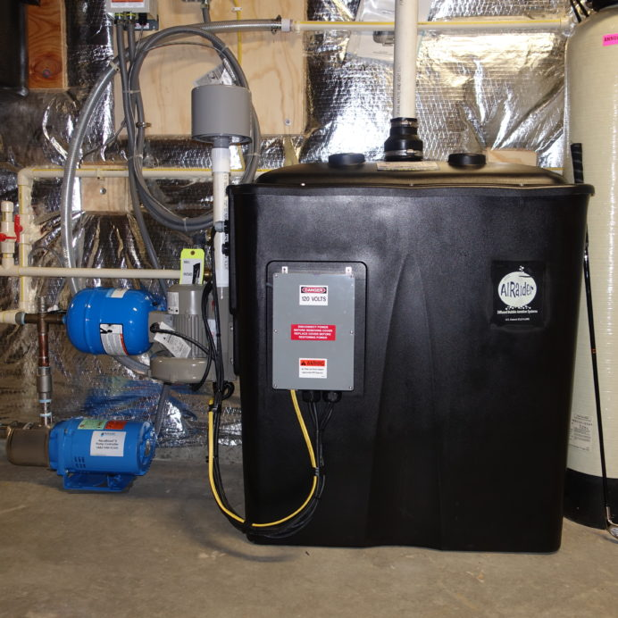A Radon Reduction System for the remediation of cancer causing radon in water with a Water Pressure Booster Pump