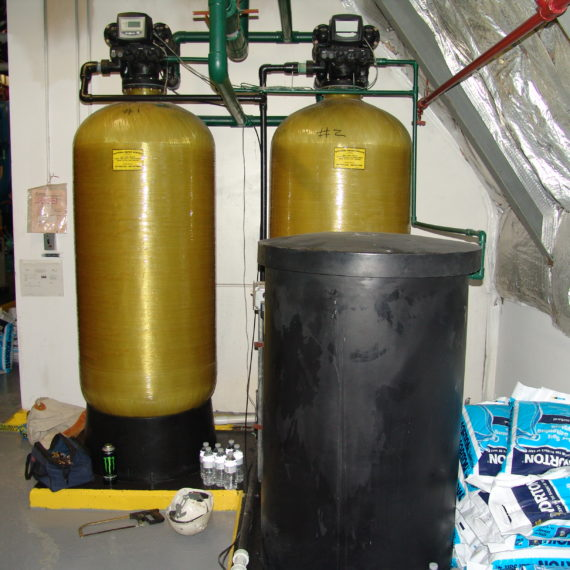 Commercial twin Water Softeners