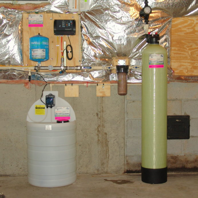 A Constant Water Pressure System, a Chemical Feeder Pump and Solution Tank for pH and corrosion control, A Whole House Sediment Filter and a Radon Reduction System for the remediation of cancer causing radon in water