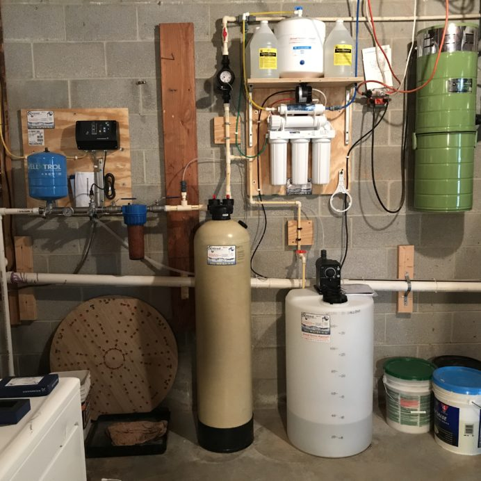 A Constant Water Pressure System, a Whole House Sediment Filter, an Acid Neutralizer, a Reverse Osmosis System for 99.9% contamination free cooking and drinking water and a Chemical Feeder Pump and solution tank for pH and corrosion control
