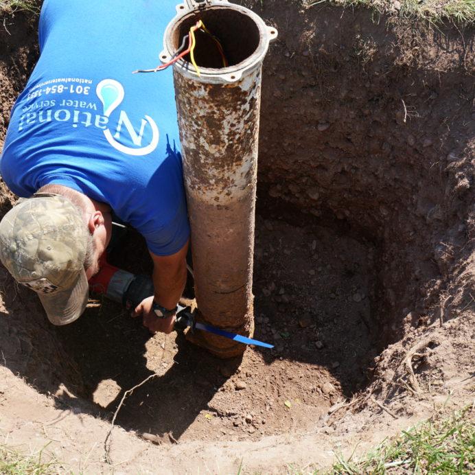 Repairing & replacing a Well Casing, Cap and Conduit