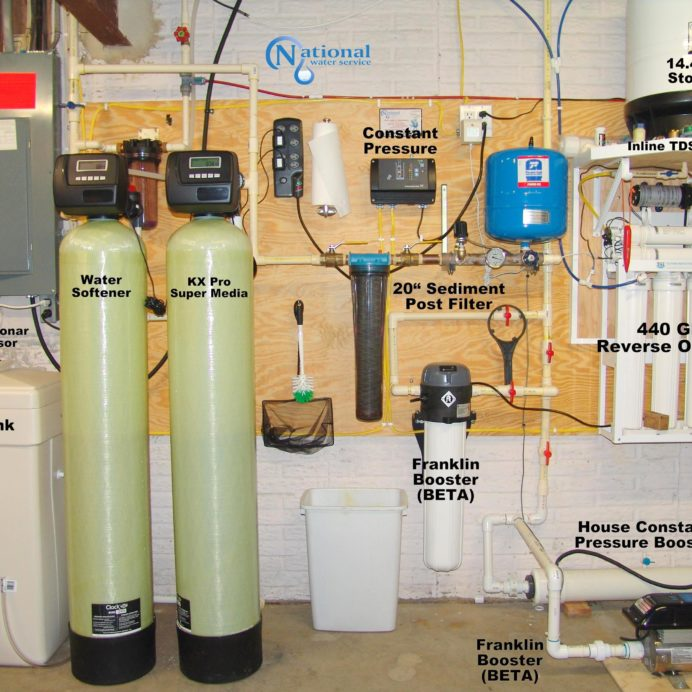 Water Softener, Brine Tank, KX Pro, Constant Water Pressure System, Reverse Osmosis, Sediment Filter