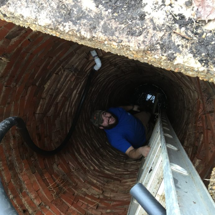Technician in a Well
