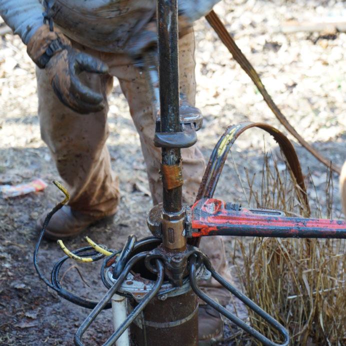 Removing a broken Well Water Pump