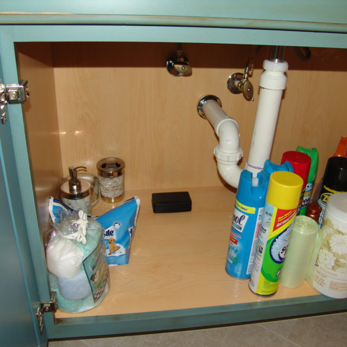 Under the sink leak detection system.