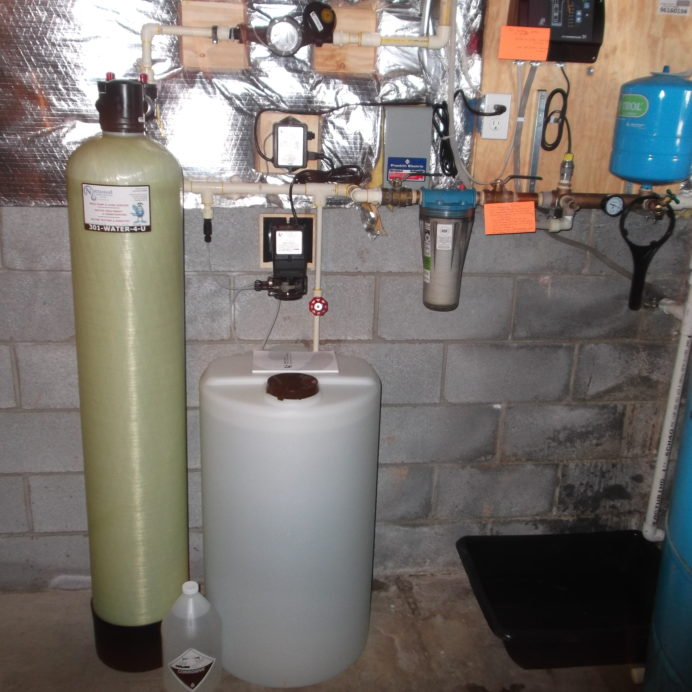 A Radon Reduction System for the remediation of cancer causing radon in water, a Chemical Feeder Pump and solution tank for pH and corrosion control, a Whole House Sediment Filter, a Constant Water Pressure System and a Pressure Tank