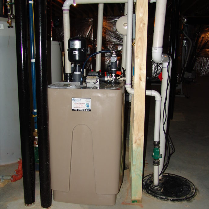 Radon Reduction System for the remediation of cancer causing radon in water and a Sump Pump