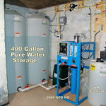 storage tanks, a whole house reverse osmosis, a Solution feeder and an ozone filter