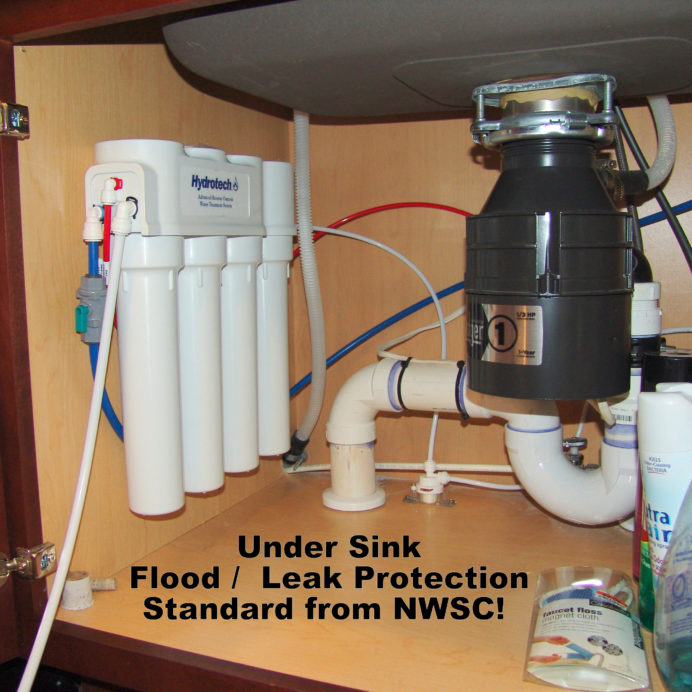 An under the sink Reverse Osmosis System for up too 99.9% contaminant free cooking & drinking water with flood/leak protection.