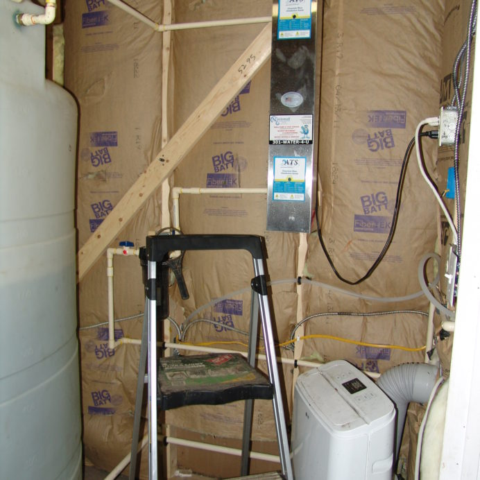 Installation of an Ultraviolet Disinfection System to remove 99.9% of all Bacteria from your water