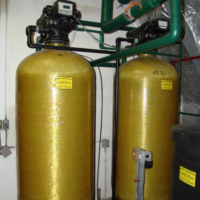 Older Commercial sized Twin Water Softeners