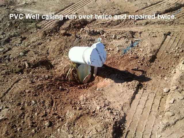 Broken PVC Well Cap & Casing