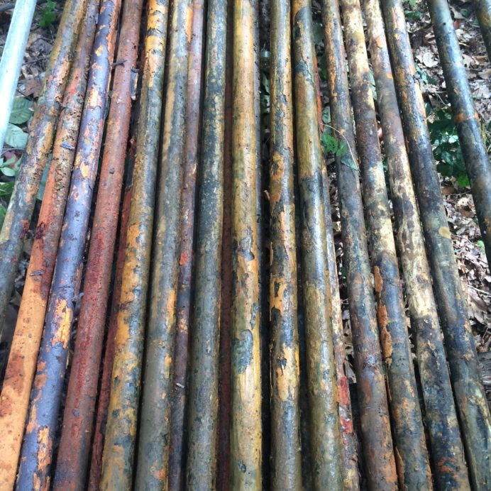 Corroded Well Water Pipes