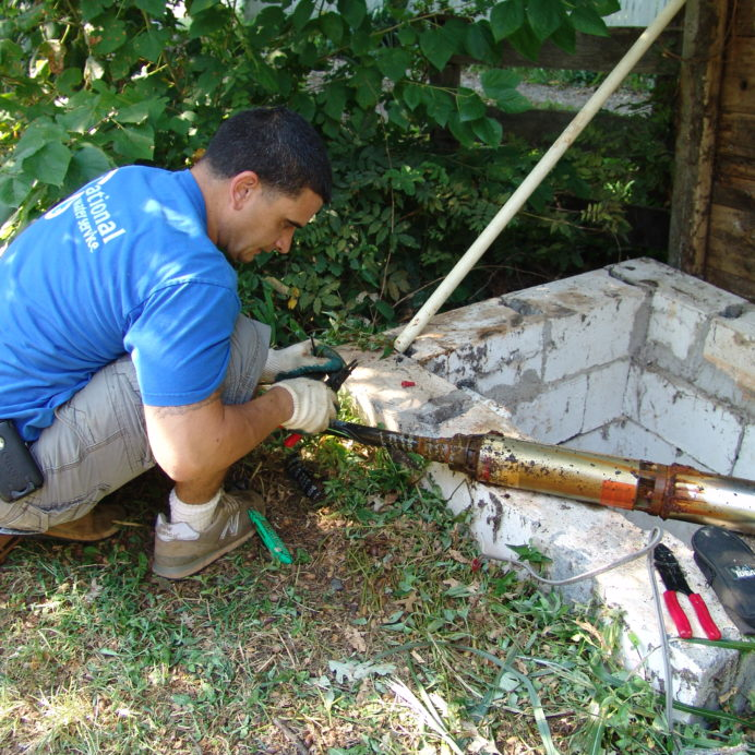 Replacing a broken, corroded Well Water Pump