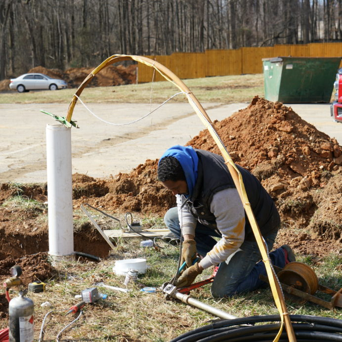 Installation of Pipe and Wire from a new water Well to a new home