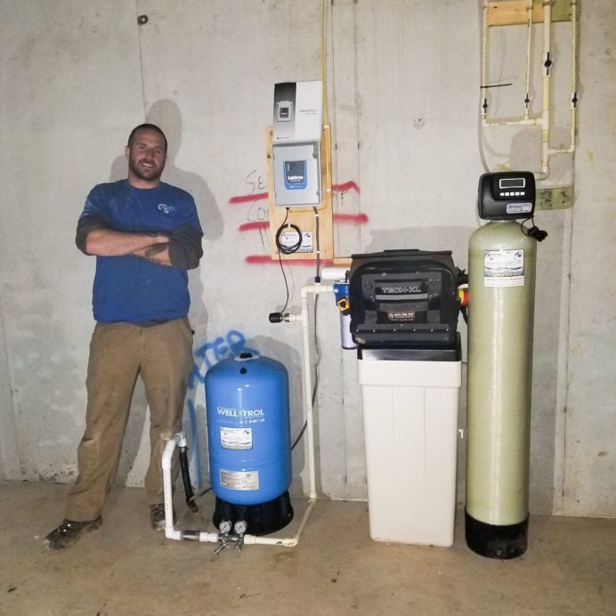 Install of a new Water Softener and Brine, Pressure Tank, Control Panel and a new Sediment Filter with Multiple Lines