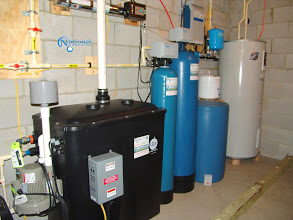 radon remediation with a water pressure booster and other treatment