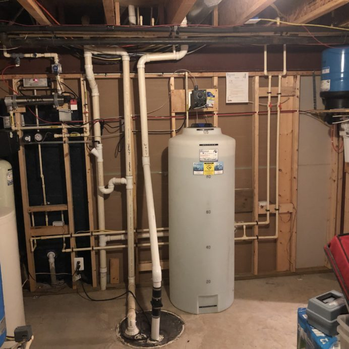 "Water Softener for hard water, Ultraviolet Light for bacteria, Chemical Feeder w/ 105 Gallon Solution Tank for pH and corrosion control, Reverse Osmosis System for up too 99.9% contaminant free cooking and drinking water & a 10"" Whole House Sediment Filter!"