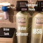 Water softener, a sediment filter and an iron breaker sulfur breaker