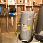 Raised the Hot Water Heater & geothermal tank,ater treatment area, installing a constant water pressure well water pump & control box & 20 inch Whole House Sediment Filter