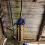 Outdoor hose bib for a small farming family