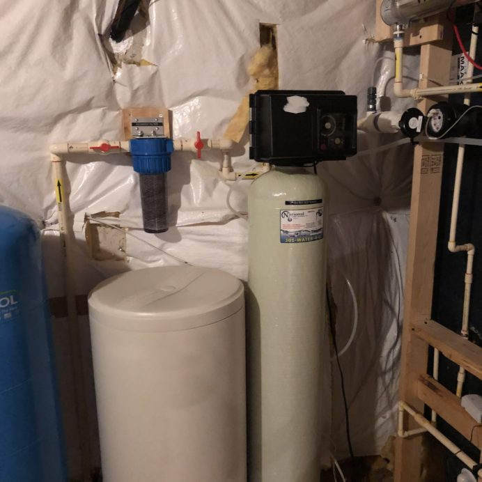 """Water Softener for hard water, Ultraviolet Light for bacteria & a 10"""" Whole House Sediment Filter"""
