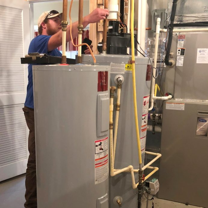 Dual Hot Water Heater Install